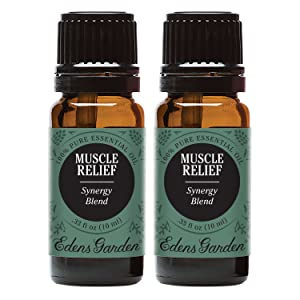 Edens Garden Muscle Relief Essential Oil Synergy Blend, 100% Pure Therapeutic Grade (Highest Quality Aromatherapy Oils- Massage & Pain), 10 ml Value Pack