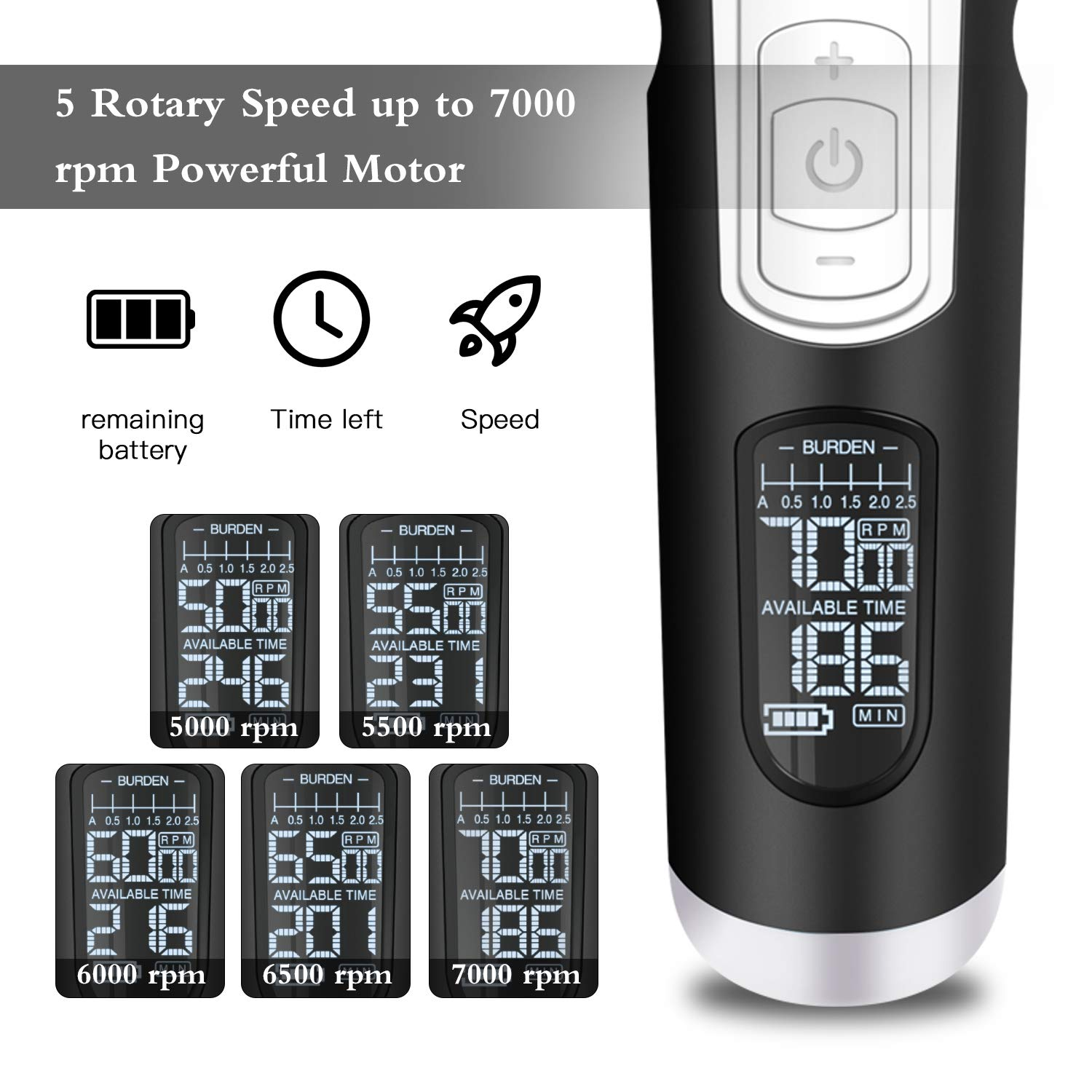 Pet Grooming Clippers for Dog Cat with 5 Speed, 4 Hour Battery Life, Ultra-High Definition LCD Display, Powerful Motor, 50db Ultra Quiet, Designed Exclusively for Pet Groomer
