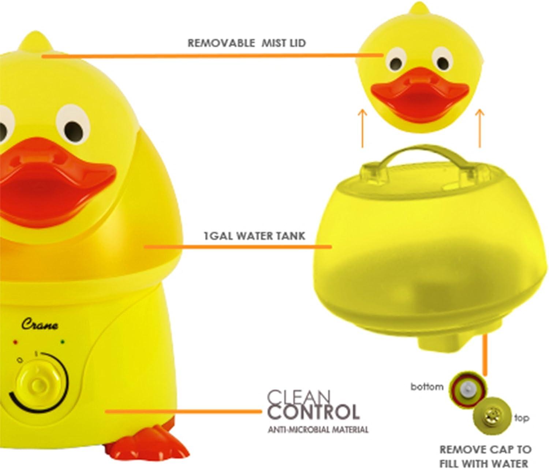 Crane Ultrasonic Cool Mist Humidifier Large 3.8L Tank (Duck)