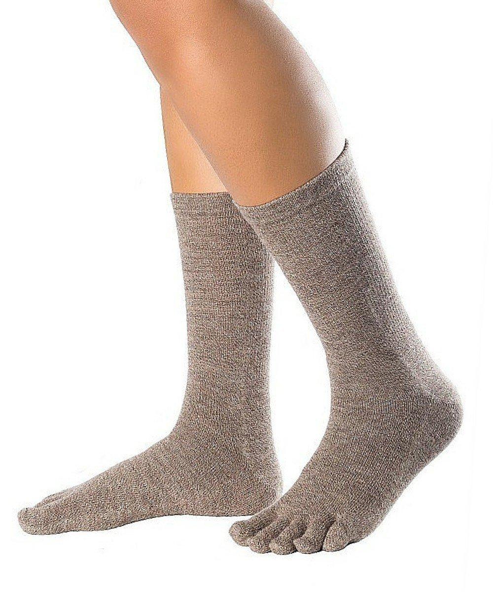 Knitido Essentials Cotton & Merino Melange, calzini con dita in lana merino e cotone, metá polpaccio Knitido Co. Ltd.