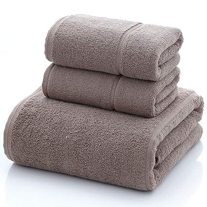 JASONN Juego de Toallas de baño de algodón de 3 Piezas, Muy Suave y Absorbente