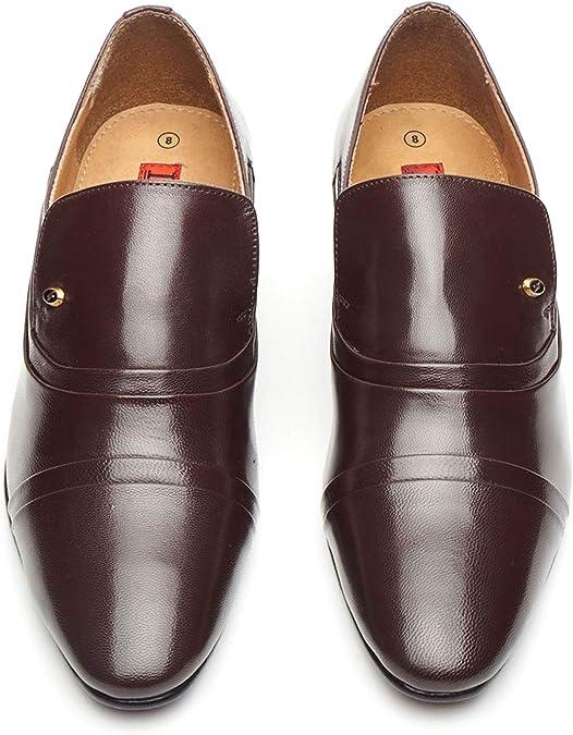 Homme Semelle en cuir Chaussures Talon Cubain À Enfiler élégant Formel taille de robe