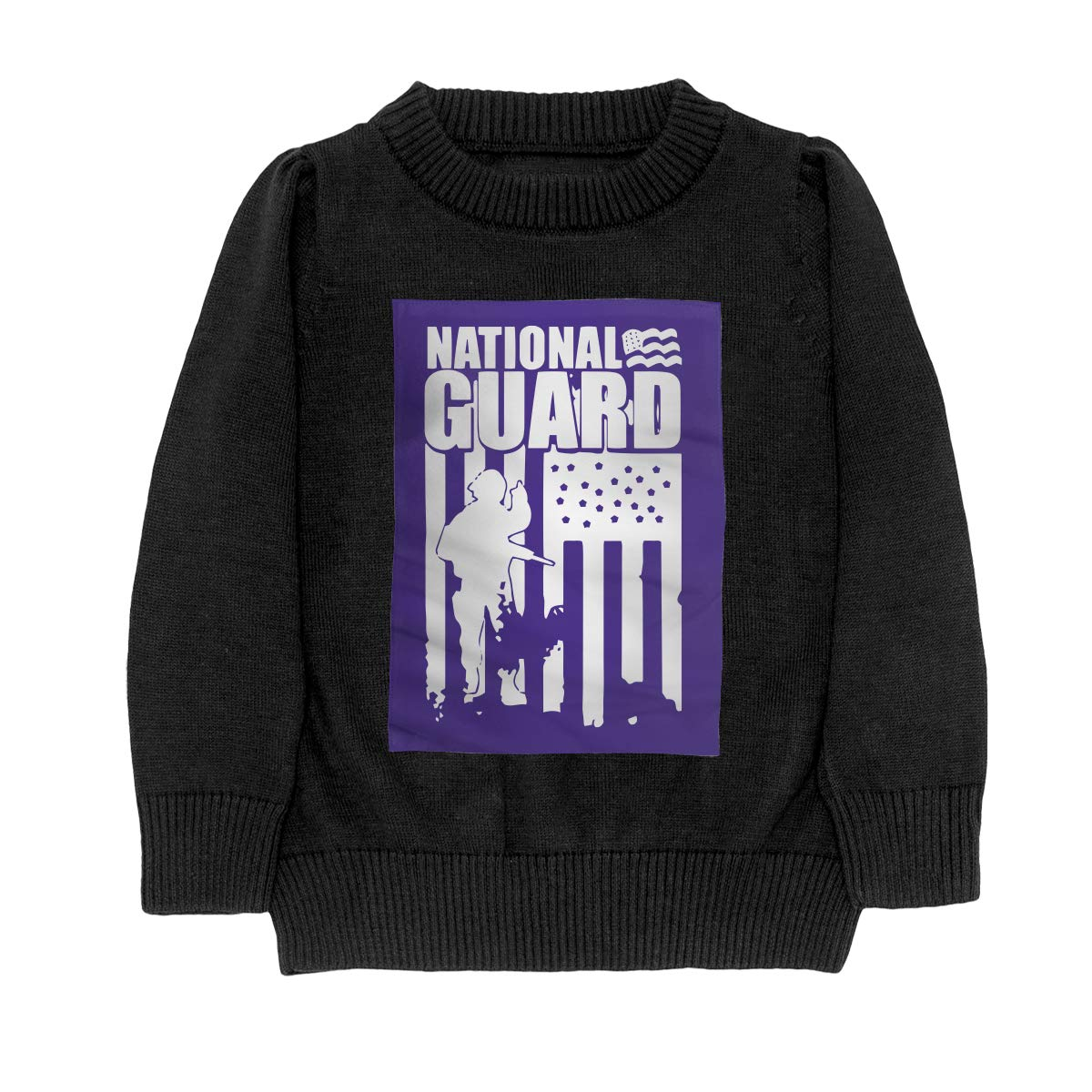 National Guard Patriotic Army American Flag Fashion Teenager Boys /& Girls Unisex Sweater Keep Warm