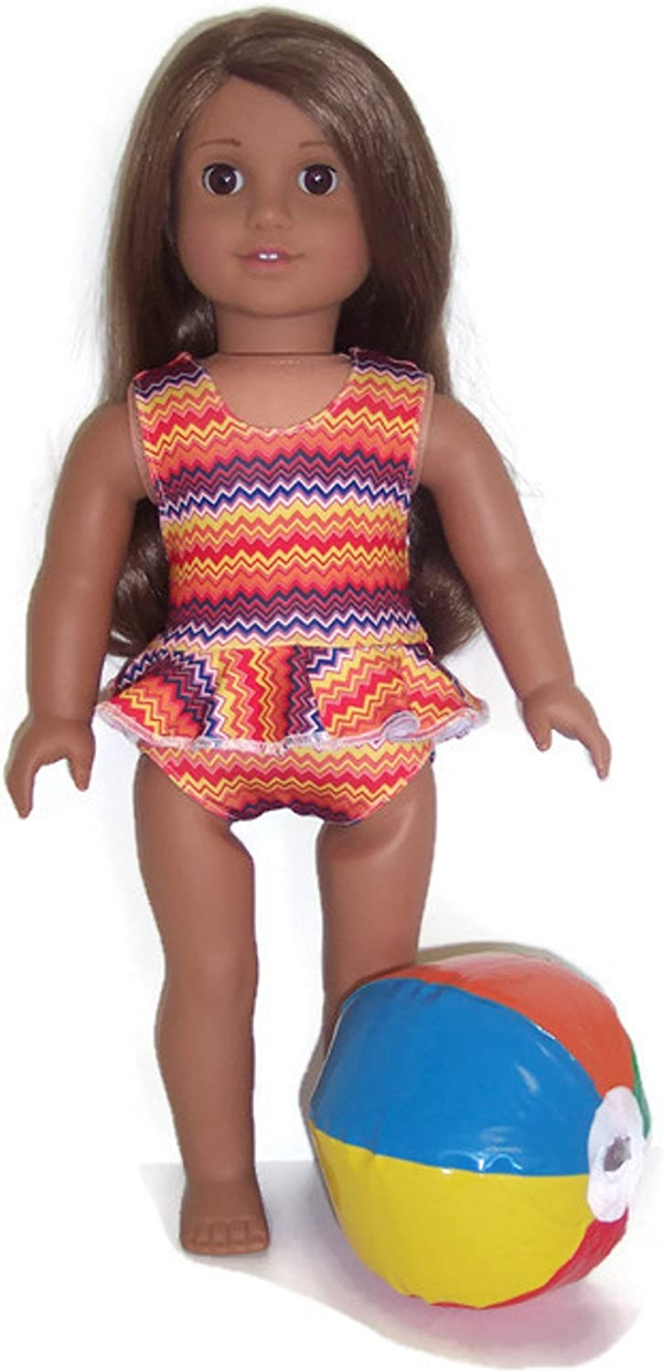 """18/"""" Doll Swimsuit Set fits 18 inch American Girl Doll Clothes 750a"""