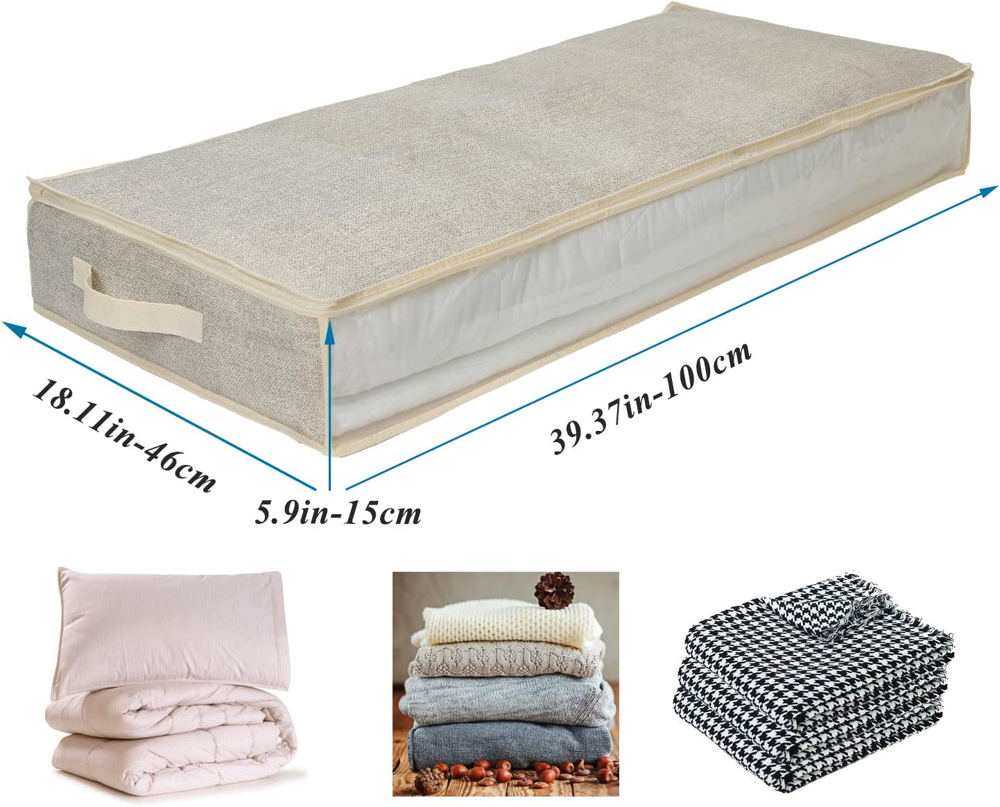 Large Underbed Storage Zippered Bags