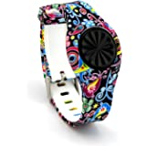 VOMA USA Newest Jawbone Up Move Buckle Bracelet - Adjustable Wristband and Wristwatch Style - Silicone Replacement Secure Band with Chrome Watch Clasp and Fastener Buckle