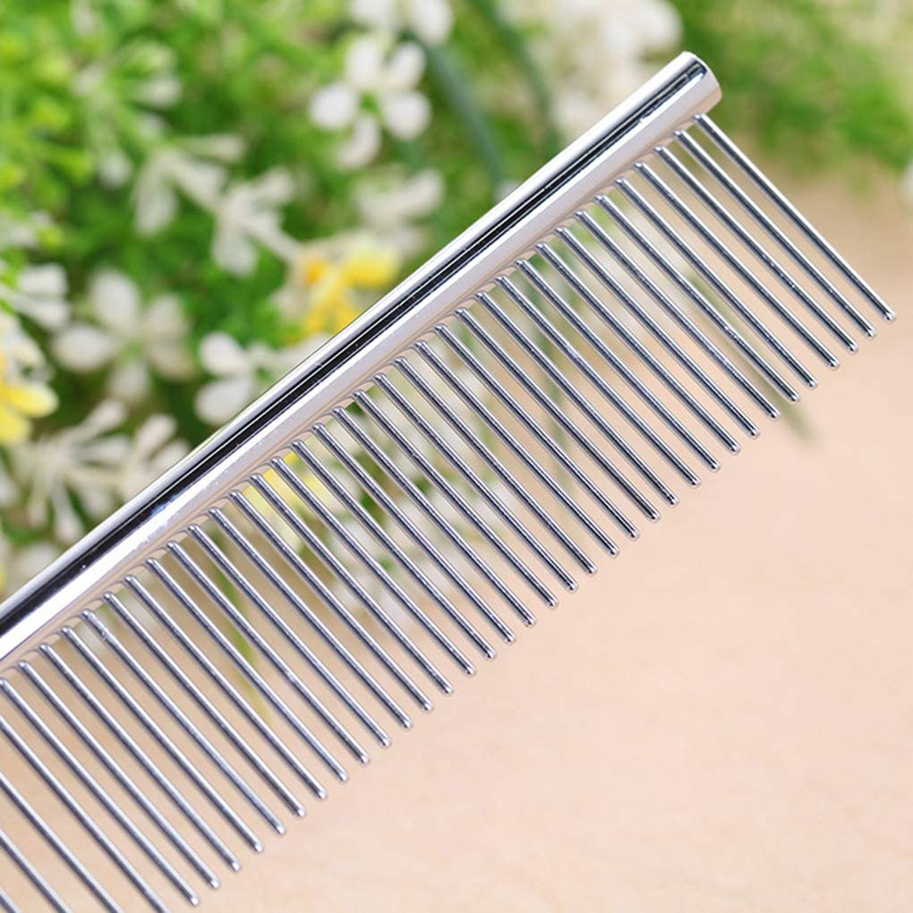 Deinbe 19cm Puppy Grooming Comb Tools Pet Clean Brushes Pin Pet Brush Stainless Steel Comb Metal Pet Suppliers