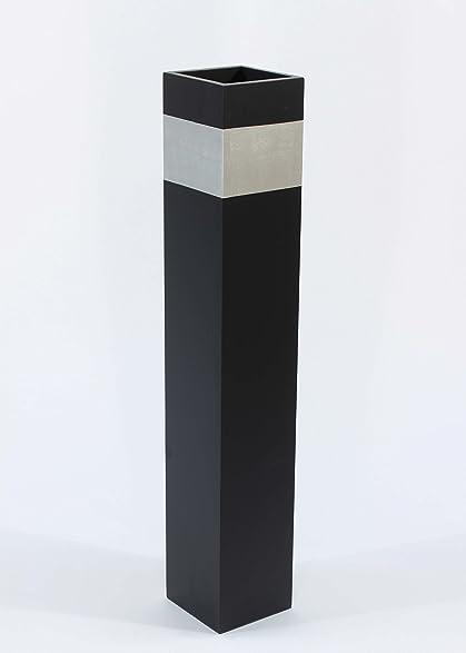 Amazoncom GreenFloralCrafts Slender Rectangle Tall Floor - Cylinder floor vase silver