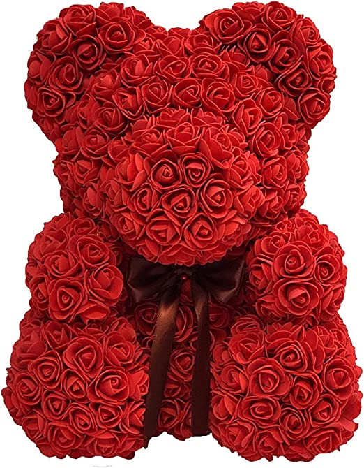 Romantice  Rose Bear Flower Teddy with Box Gifts For Wedding Birthday Valentine