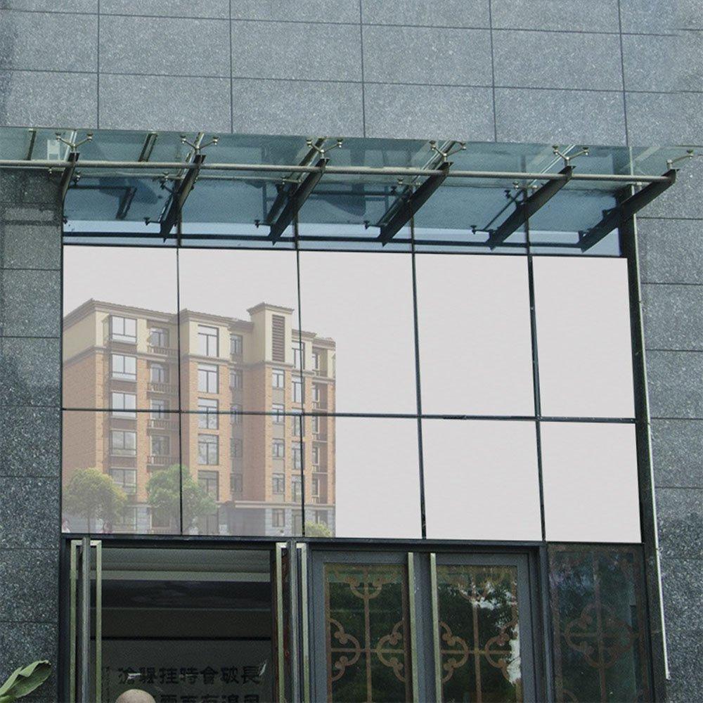HOHOFILM 60'' x 33ft Roll One Way Window Glass Film Reflective Silver Mirror Glass Tint Daytime Privacy Sun Blocking Anti UV Self-Adhesive by HOHOFILM (Image #3)