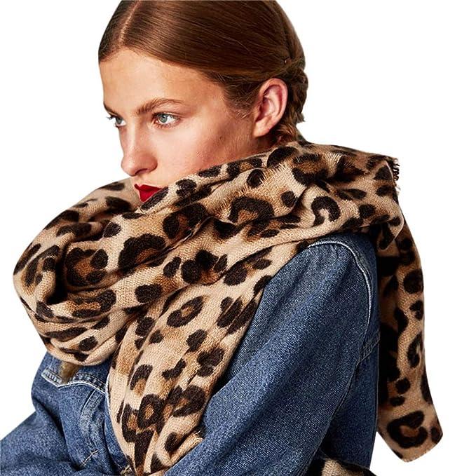 ada930a96f96b Bestag Leopard Printed Scarf Women Blanket Scarf Warm Pashmina Scarfs ( leopard)