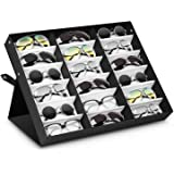 05f3903d394 amzdeal Sunglasses Display Case 18 Slot Sunglass Eyewear Display Storage  Case Tray Gift for Him Her
