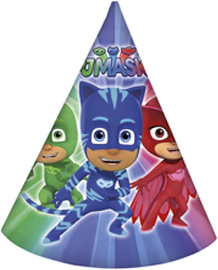Procos - Sombrero Cono Super Pigiamini-PJ Masks, Multicolor, 5PR88640