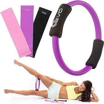 "Yoga EVO Pilates Ring Magic Circle Inner Thigh 12"" - Thigh Master for Inner Thighs Pilates Circle - Resistance Ring"