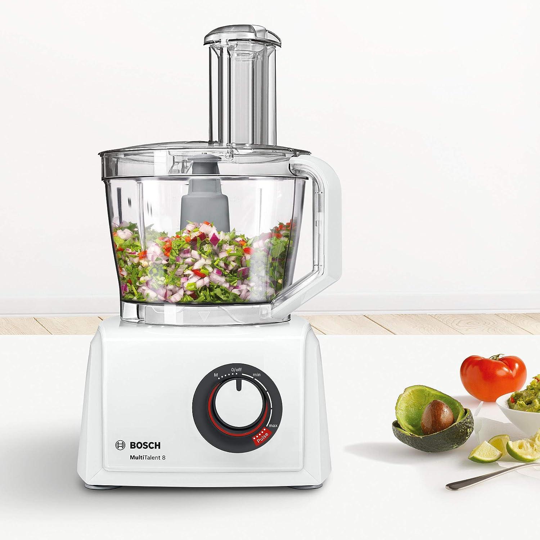 Bosch MC812W501 MultiTalent Kompakt-Küchenmaschine zum Raspeln und Schneiden