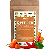 Heirloom Pepper Seed Variety Pack   8 Hot & Sweet Peppers For Planting   Garden Vegetable Seeds   Cayenne, California Bell Pe