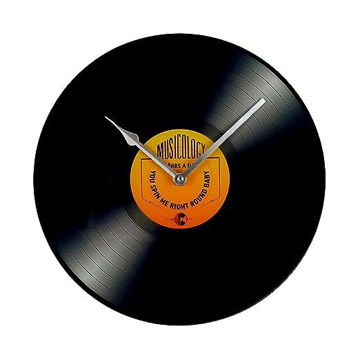 Hometime Cristal Estampado LP Tocadiscos Reloj de pared 30?Cm ...