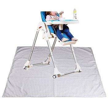 Sumnacon Baby Splat Mat For Under High Chair Floor Protector, Reusable  Washable Feeding Highchair Food