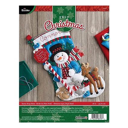 4a41aeec7 Amazon.com  Bucilla Felt Applique Stocking Kit (18-Inch)