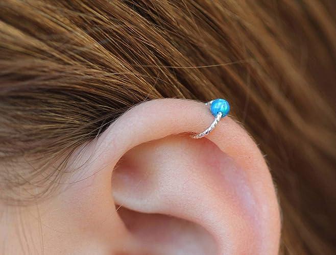 Amazon Com Hoop Earring 20gauge Sterling Silver Cartilage Hoop