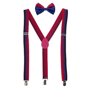 CTM - Juego de pajarita y tirantes a rayas, diseño de orgullo Rosa ...