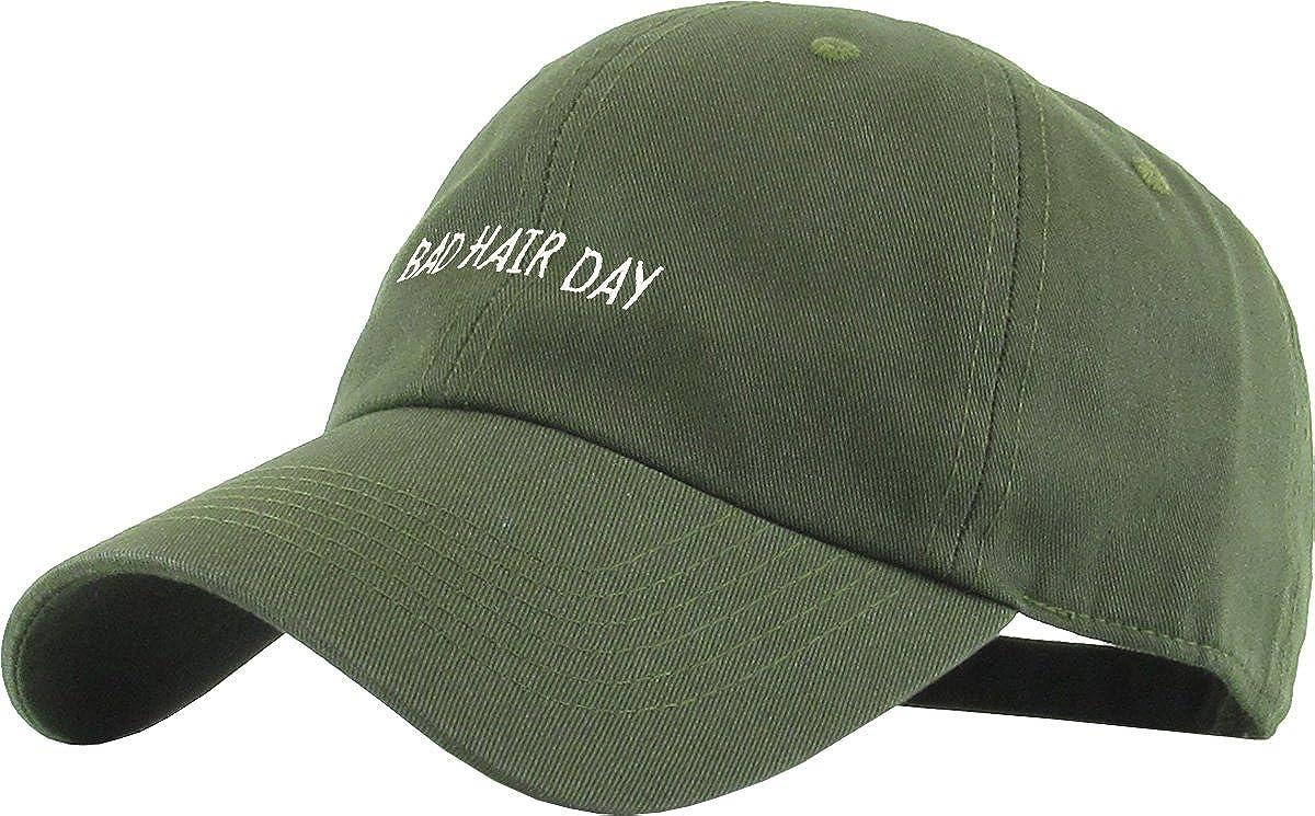9947fdf5256 Amazon.com  KBSV-062 OLV Bad Hair Day Dad Hat Baseball Cap Polo Style  Adjustable  Sports   Outdoors