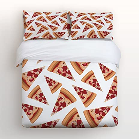 Amazoncom Libaoge 4 Piece Bed Sheets Set Cartoon Pizza Pattern