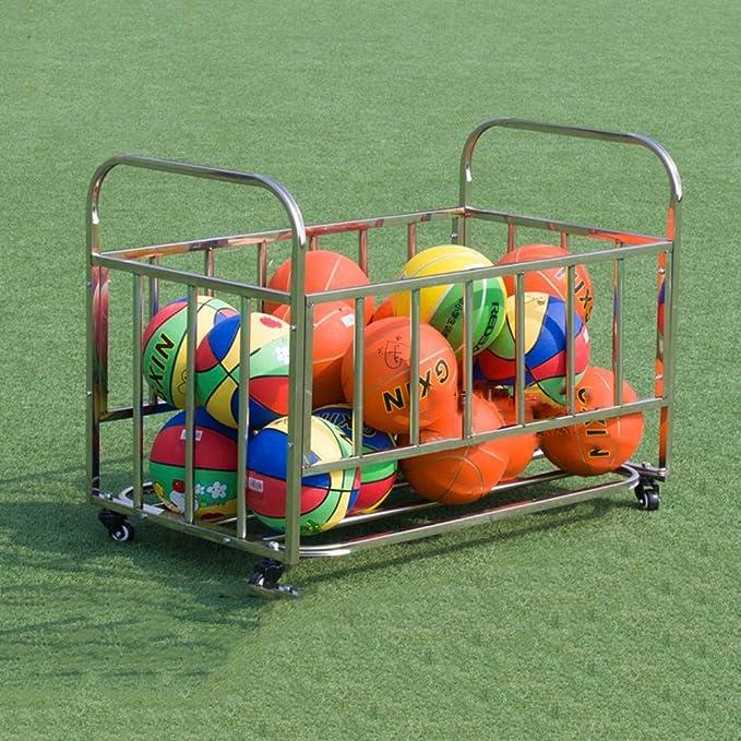 LiangDa - Jaula de Almacenamiento para balones de Deporte, con ...