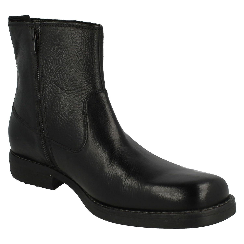 Clarks Men's Zip-Up Ankle Boots Ashburn Zip Black Leather: Amazon.co.uk:  Shoes & Bags
