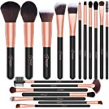 BESTOPE 18 Pcs Makeup Brush Set Premium Synthetic Fan Foundation Powder Kabuki Brushes Concealers Eye Shadows Make Up…