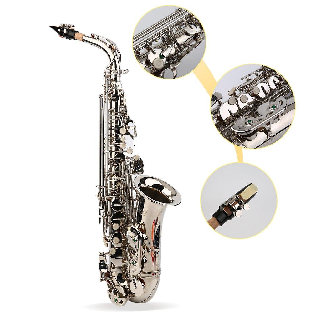 Saxophone alto professionnel avec /étui pour saxophone alto et instruments de musique