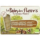 Le Pain Des Fleurs Organic Chestnut Crispbread 125 g (Pack of 6)