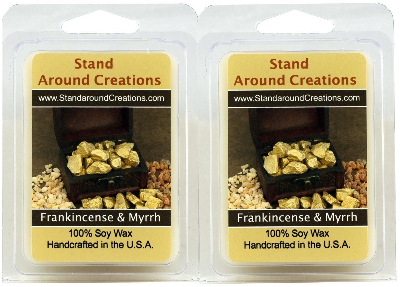 - - - - - - - 100 %大豆ワックスの樹脂tarts- 2 – Frankincense Myrrh : A、ブレンドのセットベルガモット、パチュリ、サンダルウッド、Myrrh 3oz. EA。 B01AFW5KHA