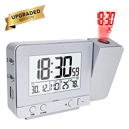 Houkiper LED Display Projector Clock con Retroiluminación con ...