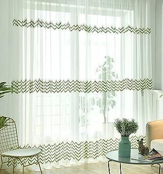 Abcwoo Exquisites Design Home Deko Modern Style Stripe Bestickt Sheer  Vorhang Fenster Behandlung Voile Panel Für