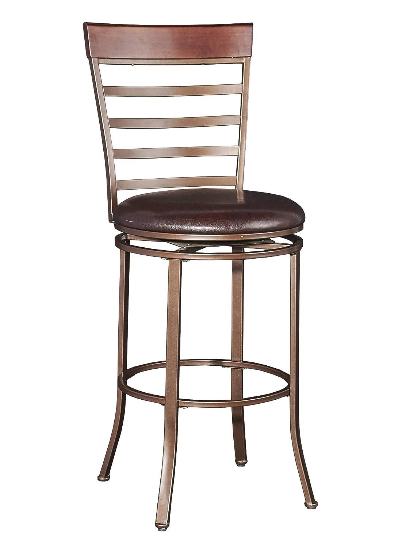 Amazoncom Powell Furniture 16b8218bs Miller Big Tall Bar Stools