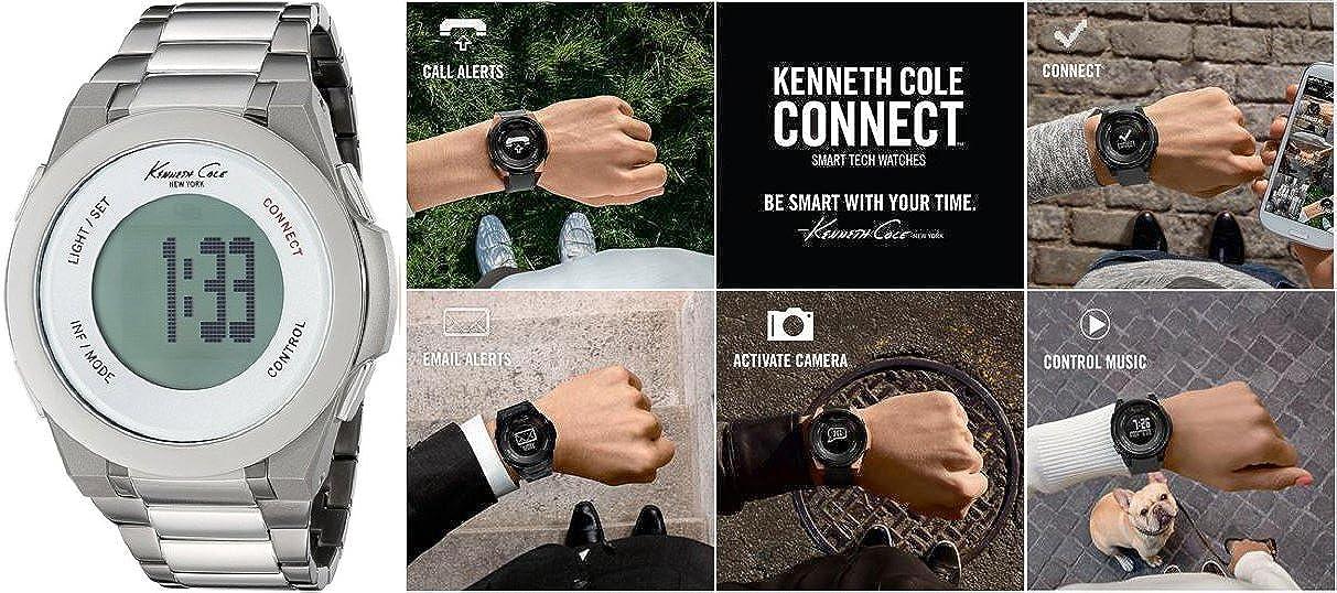 Kenneth Cole Reloj Hombre de Digital con Correa en Acero Inoxidable 10023868
