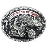 Born to Be Free Moto et Loup Chopper Biker Rider en métal Boucle de Ceinture 1e4eb7fd576