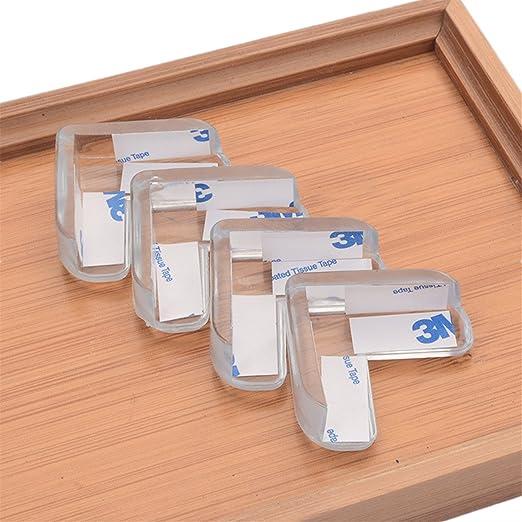Kantenschutz Eckenschutz selbstklebende Kantenschutz Lot de 12 L-f/örmige Stark klebende weiche Baby Sicherheitsecken Silikon Eckenschutz