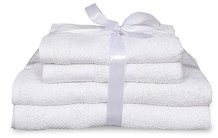 Juego de toallas de lujo de 4 piezas para baño y de mano, de