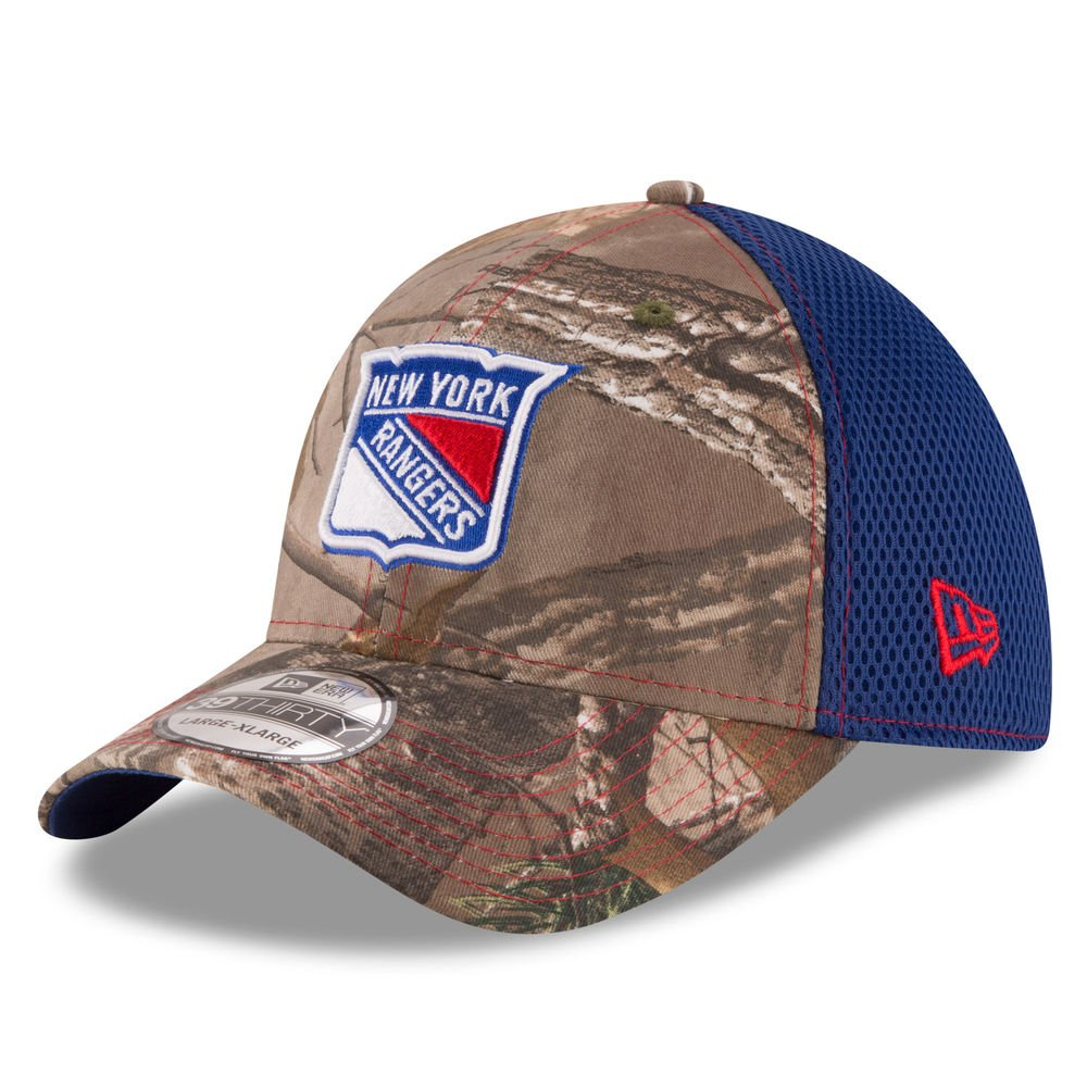 a84c8652e68 Amazon.com   New York Rangers Real Tree Neo 39THIRTY Flex Fit Hat   Cap    Sports   Outdoors