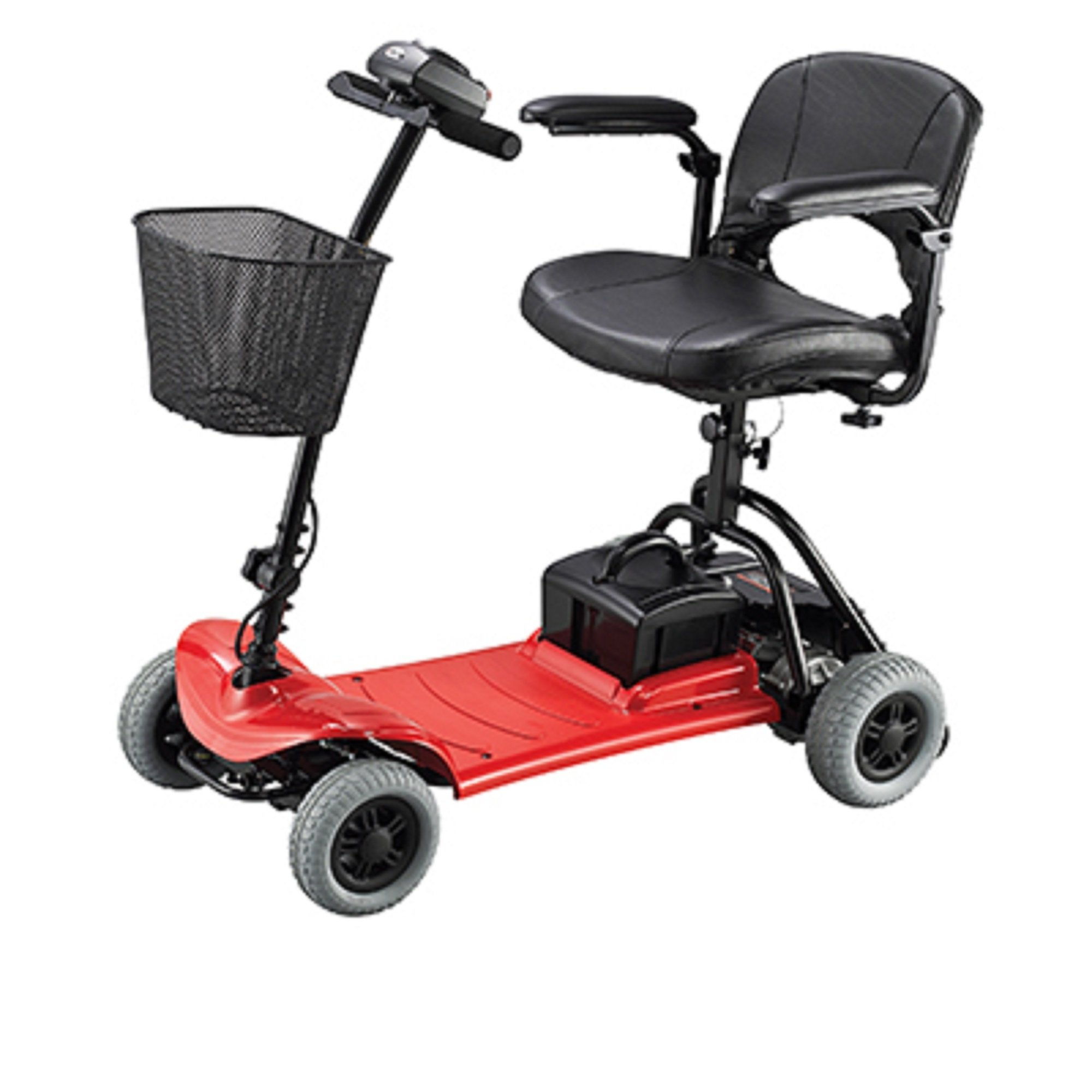 Merits Health Products - Roadster - 4-Wheel Scooter - 15''W x 15''D - Red