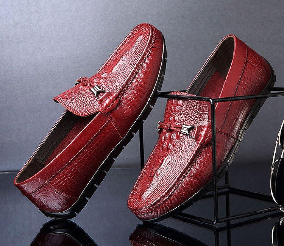 Herren Sets Vintage Freizeitschuhe Slip-on Fashion Sets Herren Singles Weichleder Classic ROT 2c5e90