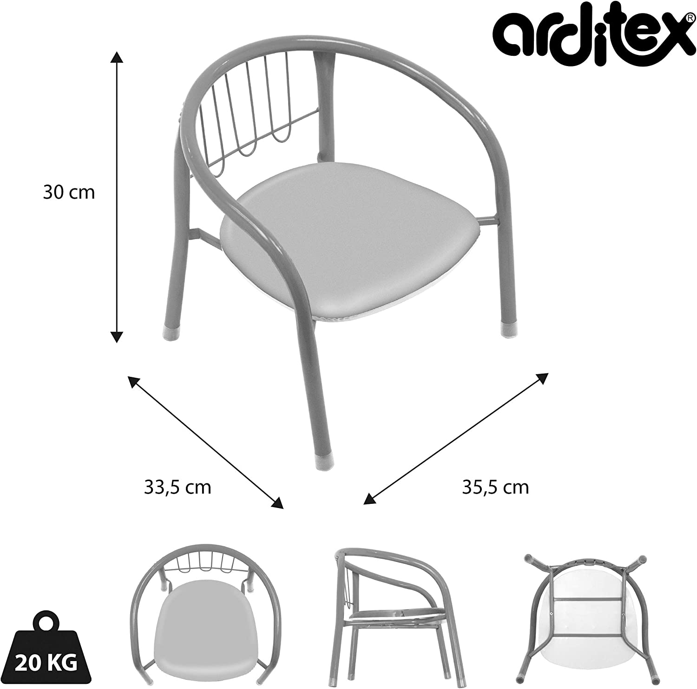 Arditex sm11590/ motif Spiderman /Chaise en m/étal