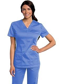 cb414cc3da9 Amazon.com: Landau 'Women's V-Neck Tunic Scrub Top - 8219' Scrub Top ...