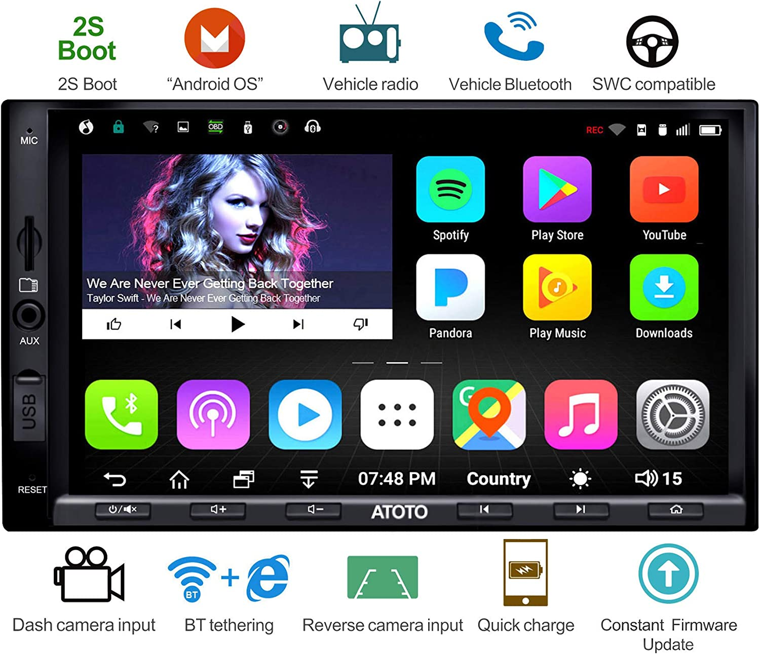 ATOTO A6 Android Car Navigation Stereo