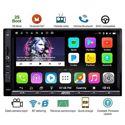 ATOTO A6 Android Car Radio de navegación GPS con Doble Bluetooth y Carga rápida -Premio A6Y2721PB 2G / 32G Entretenimiento Multimedia Radio para ...
