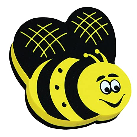 Magnetic Whiteboard Eraser Bee Design