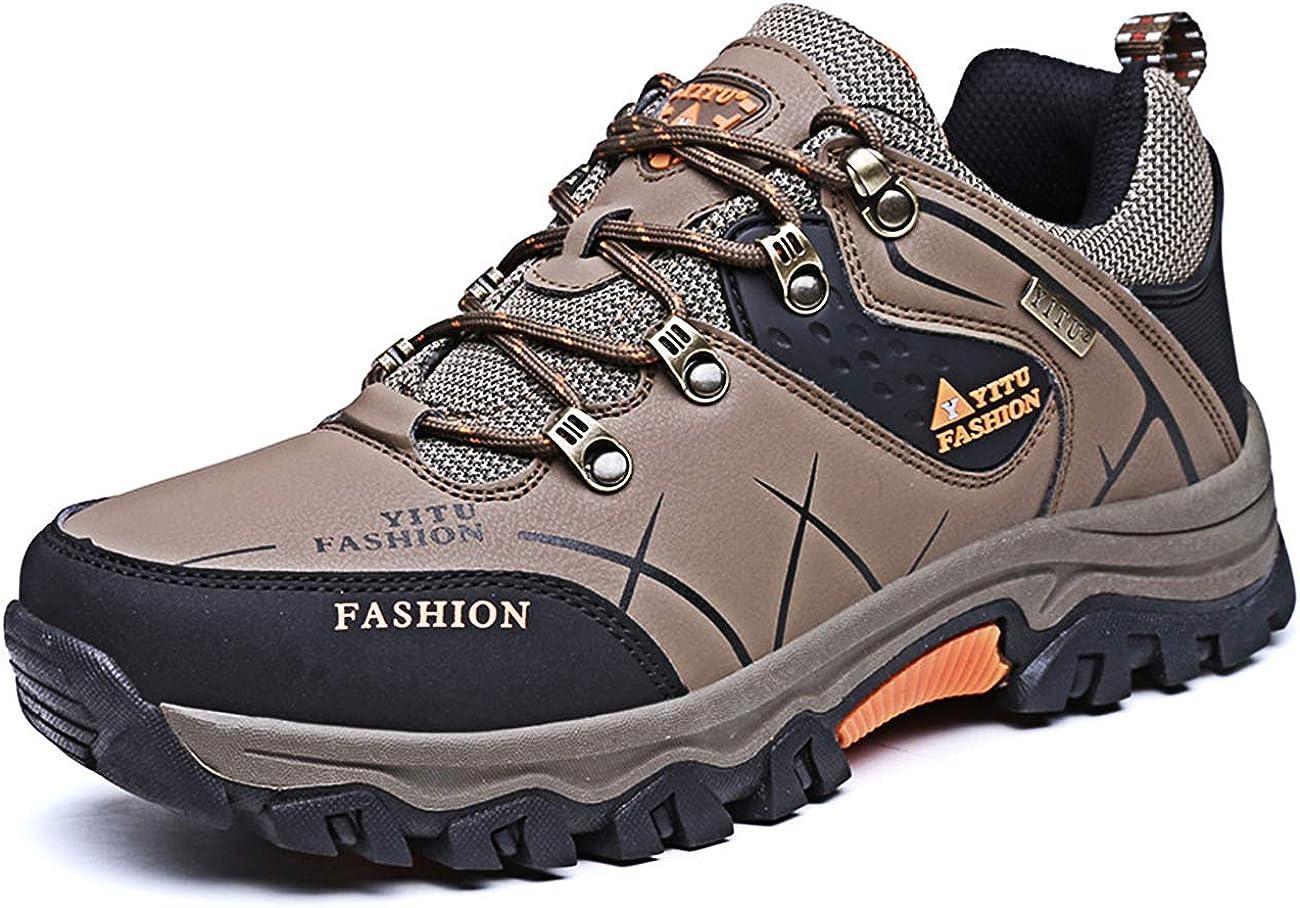 LCXAX Chaussures de Randonn/ée Basses Homme Chaussures de Marche Chaussure Montagne Cuir Antid/érapant Trekking Outdoor