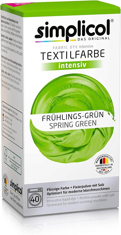 Simplicol Kit de Tinte Textile Dye Intensive Verde: Colorante ...